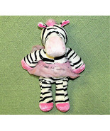 "DOUGLAS TOYS 10"" ZEBRA BALLERINA STUFFED ANIMAL PINK TUTU BLACK WHITE ST... - $9.90"