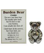 Burden Bear Zinc Pocket Charm w/ Story Card by Ganz - $5.93