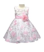 Girls Ball Gown Flower Princess for Birthday Wedding Size 4 5 ( pink 130 - $63.85