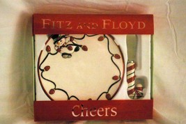 Fitz & Floyd 2006 Cheers Snack Canape Plate And Spreader - $14.17