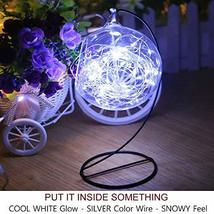 Bright Zeal 66' Long LED Cool White String Lights Outdoor Waterproof Fairy Light image 5