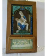 Catholic Last Rights Shadow Box Sick Call  Prayer Alter Antique Rites Vi... - $68.31