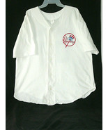 Derek Jeter T-Shirt New York Yankees MLB HOF Soft Jersey #2 (L-XL) White - $18.69