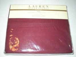 Ralph Lauren Huntley 450TC Supima Cotton Full *Queen* Flat Sheet Bordeaux Nip - $74.25