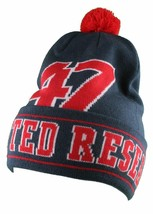 LRG Mens Navy Red Core Collection Men's 47 Lifted Pom Beanie Winter Hat NWT