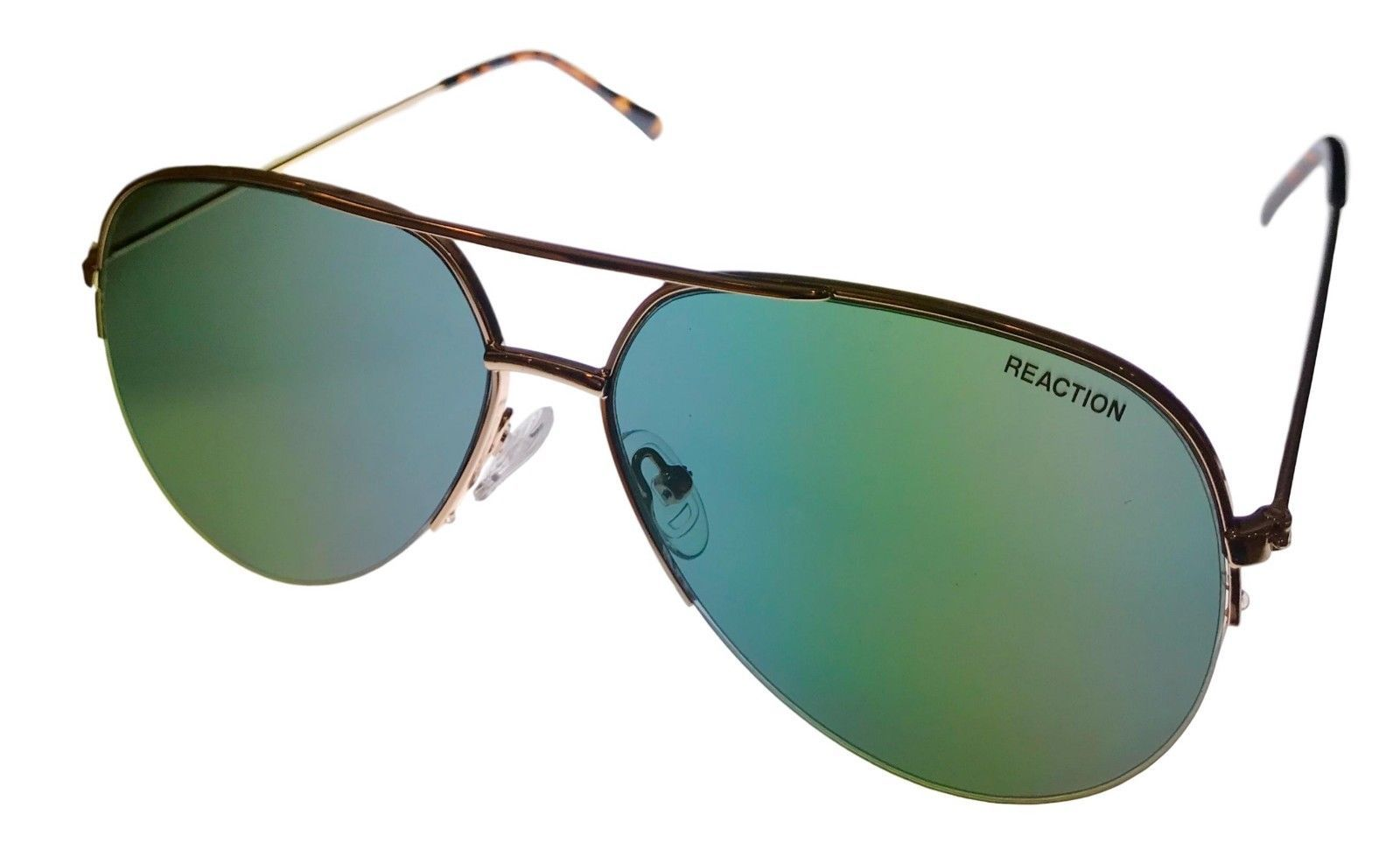 Primary image for Kenneth Cole Reaction Mens Sunglass Gold Rimless Aviator, KC1307 32N
