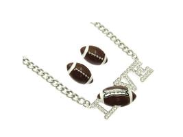 I Love Football Jewelry Set in Rhodium Tone - $16.95