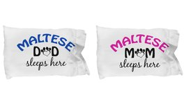 Maltese Mom and Dad Pillow Cases (Couple) - $19.55