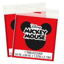 Disney Mickey Mouse Plastic Table Cover 1 Per Pkg Birthday Party Supplies New - $6.39