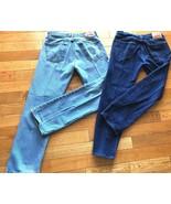 2 Pair Men's Levis 505 Size 34x32 Straight Fit Levis denim blue jeans - $25.83