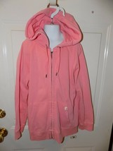 J.Crew Pink Hooded Zip Up Jacket Size M Girl's EUC - $16.00