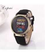 Lvpai® Men Watches Luxury Leather Strap Quartz Wristwatch Casual Vintage - $4.99