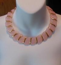 Vintage Gold-tone Pink Lucite Choker Necklace  - $44.55