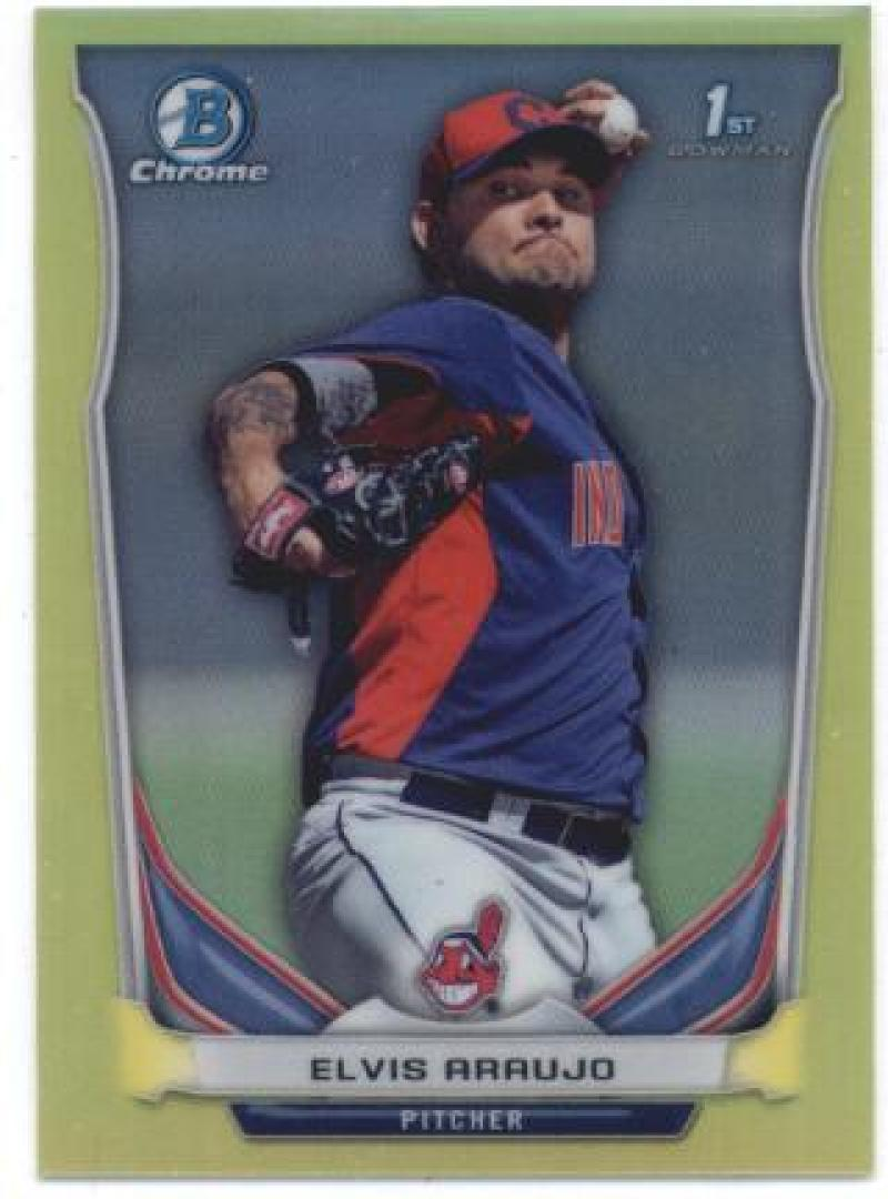 Primary image for 2014 Bowman Chrome Mini Refractors Yellow #113 Elvis Araujo Indians NM-MT SER/25