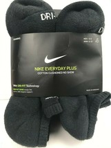 Nike Everyday Plus Cushion No-Show Black Socks - 6 Pair Pack - $19.79