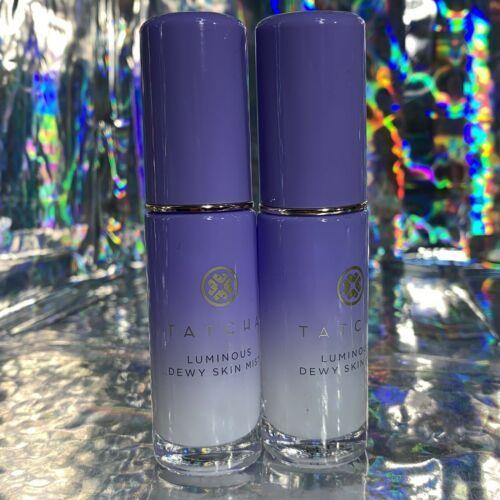TWO Tatcha Travel (12mL) Luminous Dewy Skin Mist Set Refresh Makeup Rehydrate
