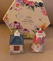 Lenox Floral Meadow House & Church Shaped Decorative Salt & Pepper Shake... - $10.99