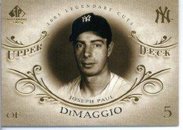 2005 Upper Deck SP Legendary Cuts Baseball Card #40 Joe DiMaggio New Yor... - $5.99