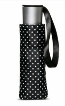 "Black & White Polka Dot Manual Compact Mini Cirra Umbrella by ShedRain 38""  - $14.84"