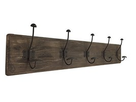 AVIGNON HOME Rustic Coat Rack with Hooks Vintage Wooden Wall Mounted Coat Rack 3