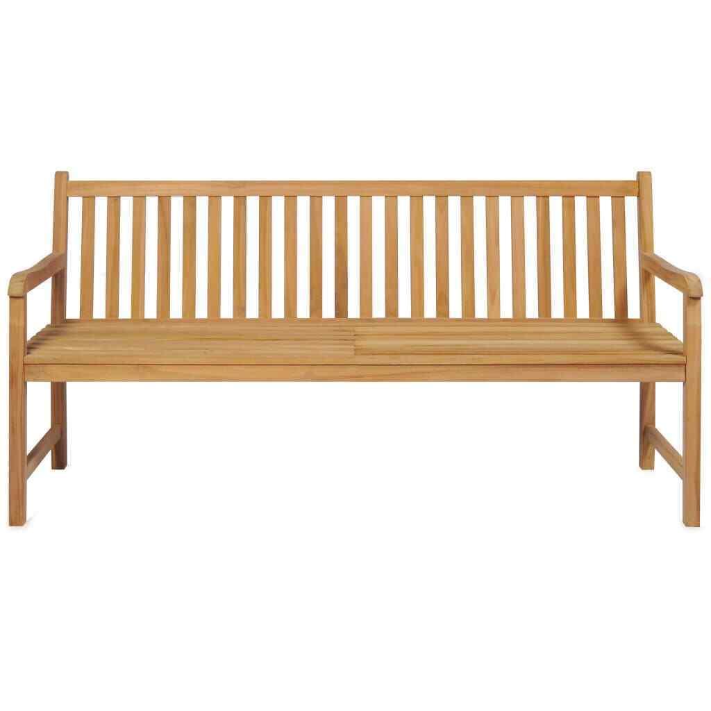 vidaXL Solid Teak Outdoor Bench w/ Finish 3-seater Garden Chair Patio 2 Sizes image 2