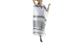 Women's Striped Beach Cover Up Maxi Dress - $22.99