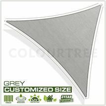 ColourTree 16' x 16' x 22.6' Right Triangle Grey Sun Shade Sail Canopy Awning Su image 2