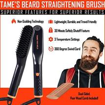 Tame's Easy Glide Beard Straightener - Fast Anti-Scald Beard Straightening Comb  image 3