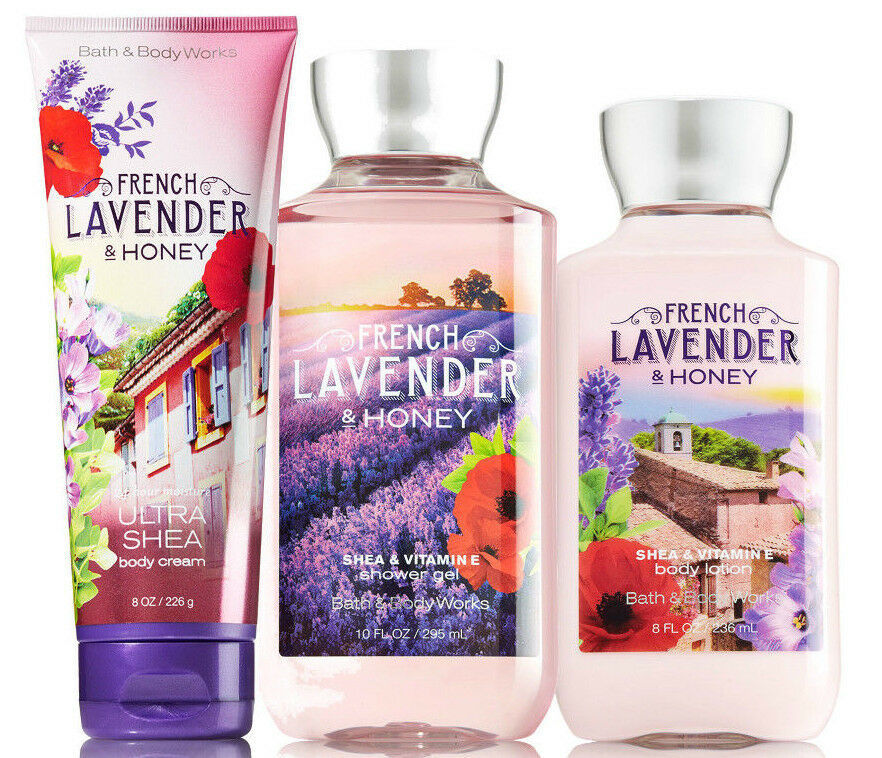 Bath & Body Works French Lavender & Honey Trinity Gift Set - $40.95
