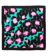 Kenzo Silk Scarf Black Pink Turquoise Exclusive Designer LIMITED EDITION... - $189.99