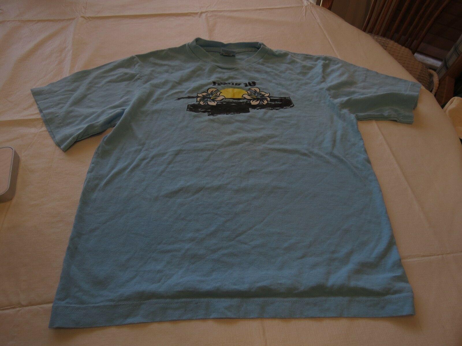 Boys Kanu surf T shirt Medium M MD 10/12 GUC youth blue TEE Boy's HANG TEN