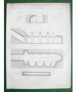 ARCHITECTURE PRINT : BELGIUM TIR National Firing Shooting Range Engraving - $6.74
