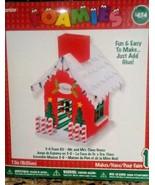"2008 Darice Foamies 3-D Foam Kit 8"" SANTA HOUSE For Ages 4+ Fun to Make!... - $9.70"