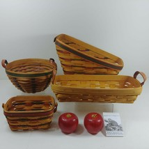 Longaberger and Hershberger USA Baskets 4 pcs All Stamped Signed by Artisan - $82.37