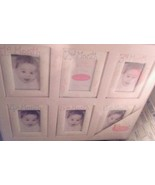 NIP Bon Bebe Watch Me Grow 6 Month Photo Frame Gift Set -  Pink  Girl - $14.03