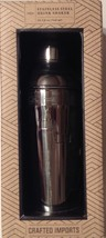 STAINLESS STEEL COCKTAIL SHAKER & DRINK RECIPES NEW CRAFTED IMPORTS - $21.78