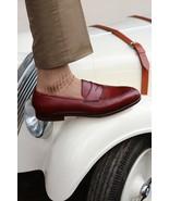 Handmade Men burgundy shoes Loafer , Men leather slip ons Leather dress ... - $149.99 - $159.99