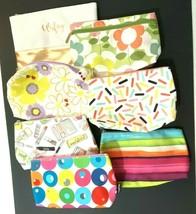 Travel Makeup Bags Lot of 7 Ambrielle Clinique Kapitza Canvas Vinyl Zipper Empty - $23.38