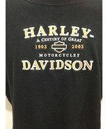 Harley Davidson Motorcycles Mens L Embroidered Black T-Shirt Orlando 190... - $31.85