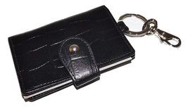 NEW ITALIE LEATHER CROC EMBOSSED VALET KEY CASE WITH INTERIOR ID WINDOW ... - $20.57