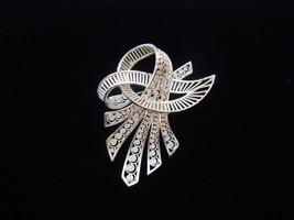 Sterling Silver Brooch Filigree Lace Marked EB Germany Vintage - $14.25