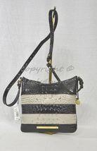 NWT Brahmin Jody Striped Cross-Body/Shoulder Bag in Angora Vineyard image 3