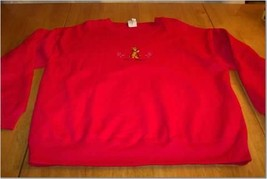 WININIE THE POOH TIGGER STITCHED Sweatshirt LARGE - $16.34