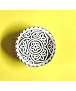 indian mandala print textile decorative wooden stamp print making block ... - $8.84