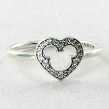 Pandora 190957CZ Mickey Mouse Silhouette Ring Zirconia 925 Sz 6 52 New $60 - $48.49