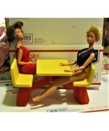 Vintage 1982 MATTEL, BARBIE Loves McDonald's Table & Two Dolls - $25.00