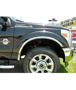 FORD F-250/350 SUPER DUTY 2011-2016 Polished Stainless Fender Trim Molding - $116.99