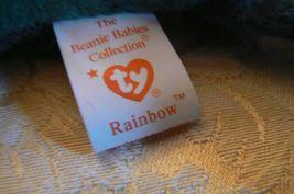 "Vintage Ty Beanie Babies Rainbow "" The Chameleon "" Hang Tag/Tush Tag 1997 Errors image 8"