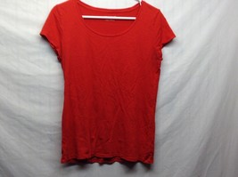 Ann Taylor Red Summer Scoop Neck T Shirt Sz LG