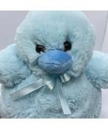 "Hobby Lobby Plush CHICK 13"" Blue Bow Stuffed Animal Easter Spring Soft - $13.85"